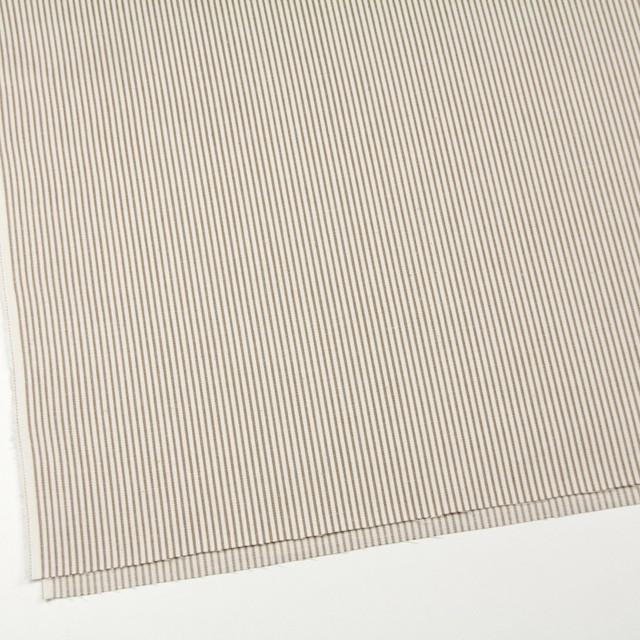 コットン×ストライプ(カーキベージュ)×かわり織 イメージ2