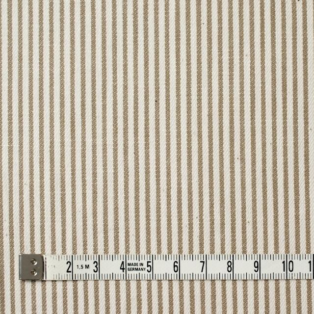 コットン×ストライプ(カーキベージュ)×かわり織 イメージ4