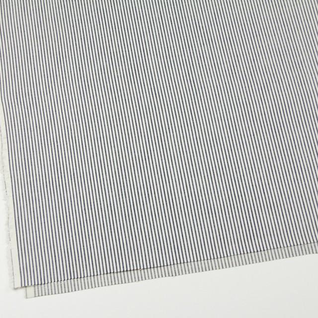 コットン×ストライプ(ネイビー)×かわり織 イメージ2