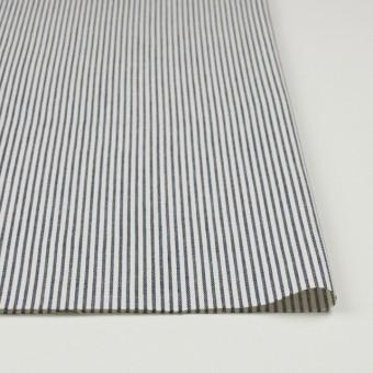 コットン×ストライプ(ネイビー)×かわり織 サムネイル3