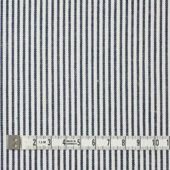 コットン×ストライプ(ネイビー)×かわり織 サムネイル4