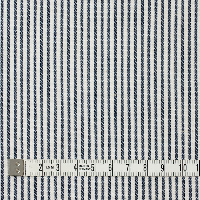 コットン×ストライプ(ネイビー)×かわり織 イメージ4