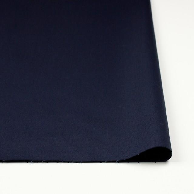 コットン&ポリウレタン×無地(ネイビー)×サテンストレッチ イメージ3