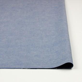 コットン&リネン×無地(ブルー)×ダンガリー サムネイル3