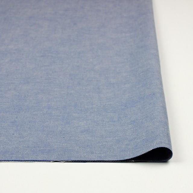 コットン&リネン×無地(ブルー)×ダンガリー イメージ3