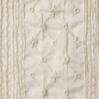 コットン×アーガイル(キナリ)×ボイル刺繍 サムネイル1