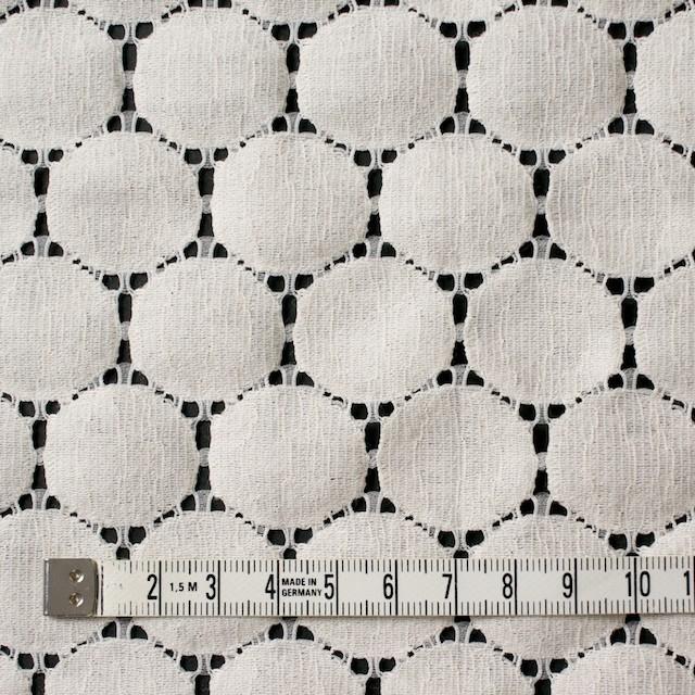 キュプラ&ナイロン×輪模様(アイボリー)×ラッセルレース_全2色 イメージ4