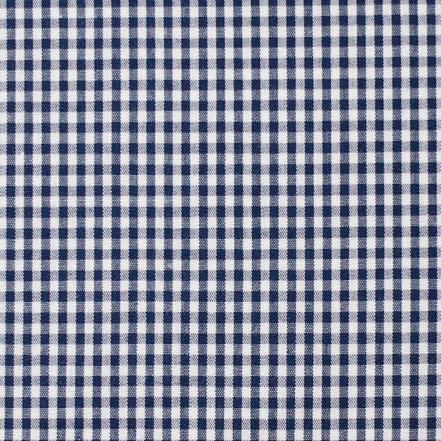 コットン×チェック(ネイビー)×ブロード イメージ1