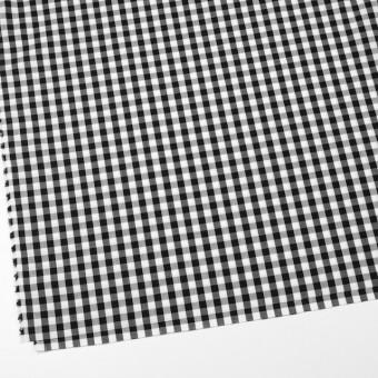 コットン×チェック(ブラック)×ブロード サムネイル2