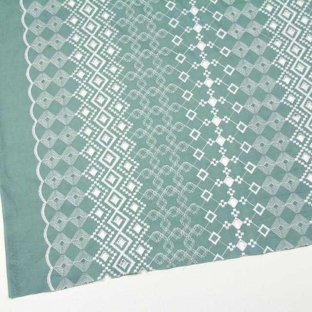 コットン×幾何学模様(ミントグレー)×ローン刺繍_全3色 イメージ2