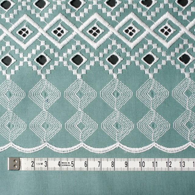 コットン×幾何学模様(ミントグレー)×ローン刺繍_全3色 イメージ4