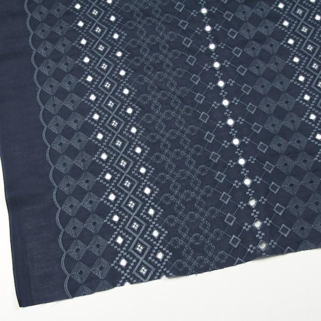 コットン×幾何学模様(ネイビー)×ローン刺繍_全3色 イメージ2