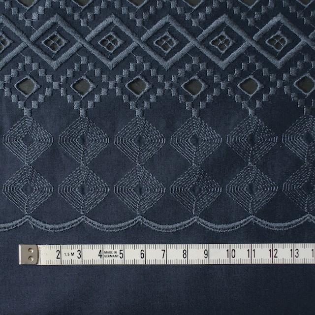 コットン×幾何学模様(ネイビー)×ローン刺繍_全3色 イメージ4