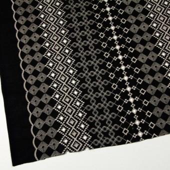 コットン×幾何学模様(ブラック)×ローン刺繍_全3色 サムネイル2