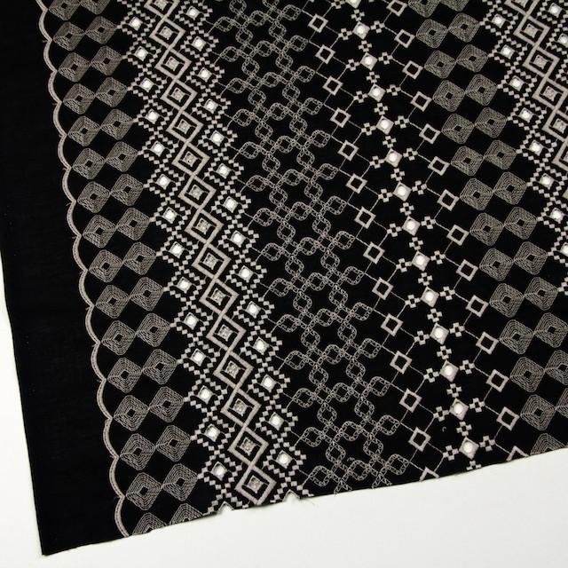 コットン×幾何学模様(ブラック)×ローン刺繍_全3色 イメージ2