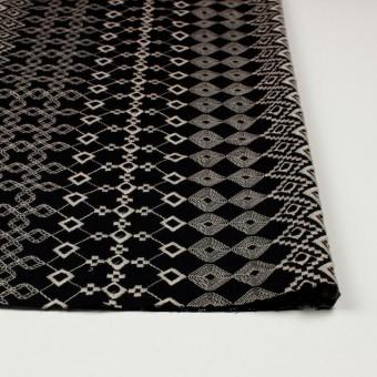 コットン×幾何学模様(ブラック)×ローン刺繍_全3色 サムネイル3