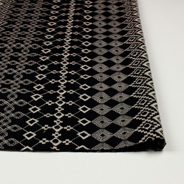 コットン×幾何学模様(ブラック)×ローン刺繍_全3色 イメージ3
