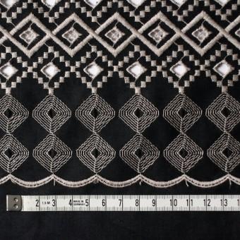 コットン×幾何学模様(ブラック)×ローン刺繍_全3色 サムネイル4