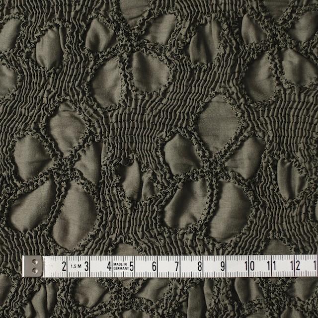 コットン×フラワー(カーキグリーン)×ローンシャーリング刺繍 イメージ4