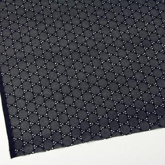 シルク×輪模様(ブラック)×ジョーゼット刺繍 サムネイル2