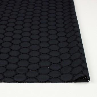 シルク×輪模様(ブラック)×ジョーゼット刺繍 サムネイル3