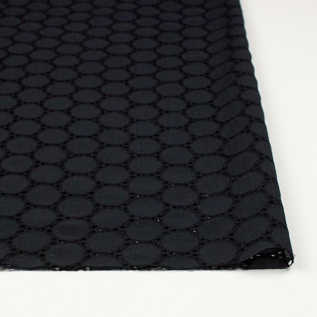 シルク×輪模様(ブラック)×ジョーゼット刺繍 イメージ3