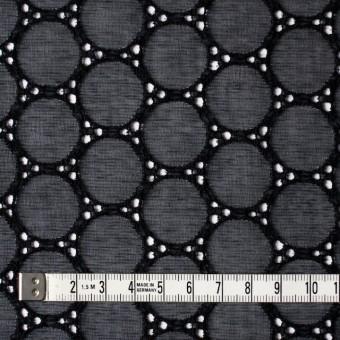 シルク×輪模様(ブラック)×ジョーゼット刺繍 サムネイル4