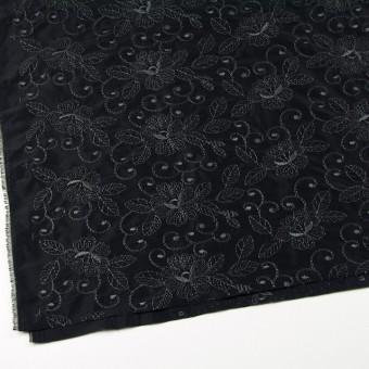 ポリエステル×フラワー(ブラック)×タフタ刺繍_全2色 サムネイル2