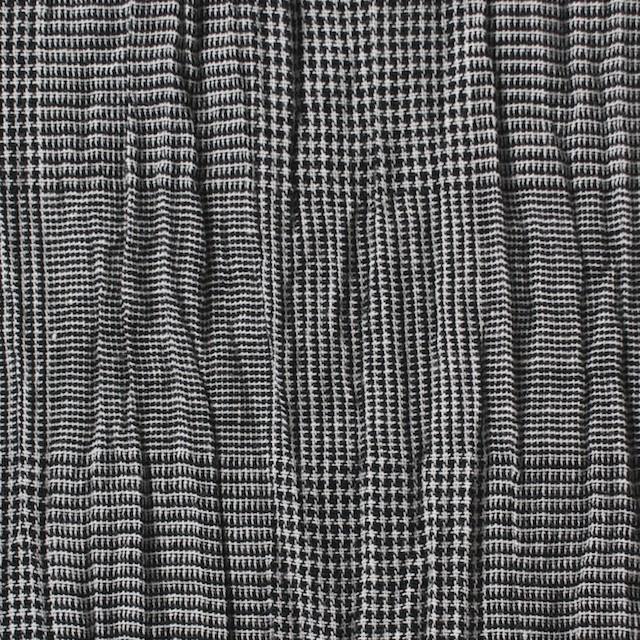 コットン&リネン×チェック(グレー)×ボイルワッシャー イメージ1