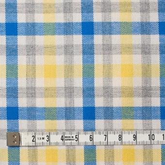 コットン×チェック(イエロー&ブルー)×ビエラ_全3色 サムネイル4