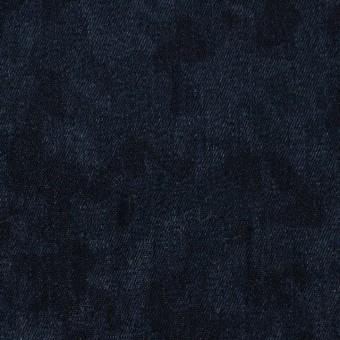 コットン&ポリウレタン×幾何学模様(インディゴ)×デニムストレッチ サムネイル1