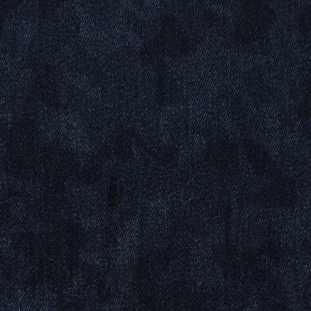コットン&ポリウレタン×幾何学模様(インディゴ)×デニムストレッチ イメージ1