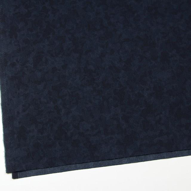 コットン&ポリウレタン×幾何学模様(インディゴ)×デニムストレッチ イメージ2