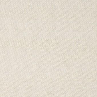コットン&ポリエステル×無地(アイボリー)×天竺ニット_全3色