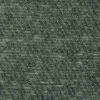 コットン&ポリエステル×無地(モスグリーン)×天竺ニット