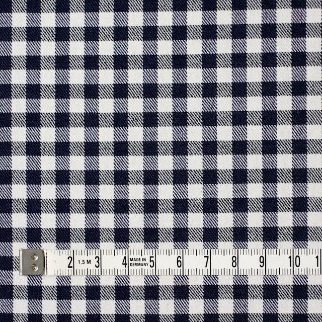コットン&ポリエステル混×チェック(オフホワイト&ネイビー)×サージストレッチ_全2色 イメージ4
