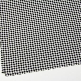 コットン&ポリエステル混×チェック(キナリ&ブラック)×サージストレッチ_全2色 サムネイル2