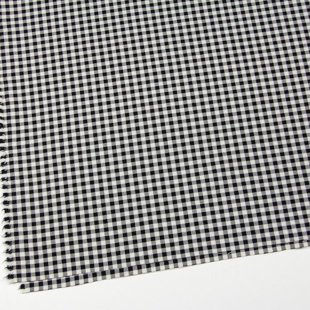 コットン&ポリエステル混×チェック(キナリ&ブラック)×サージストレッチ_全2色 イメージ2