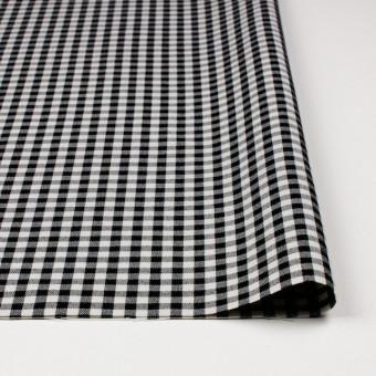コットン&ポリエステル混×チェック(キナリ&ブラック)×サージストレッチ_全2色 サムネイル3