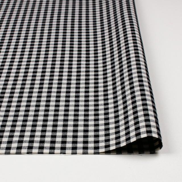 コットン&ポリエステル混×チェック(キナリ&ブラック)×サージストレッチ_全2色 イメージ3