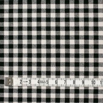 コットン&ポリエステル混×チェック(キナリ&ブラック)×サージストレッチ_全2色 サムネイル4