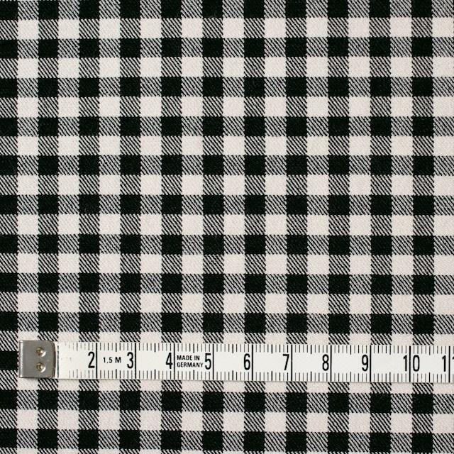 コットン&ポリエステル混×チェック(キナリ&ブラック)×サージストレッチ_全2色 イメージ4