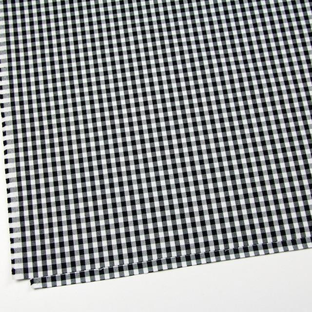 コットン&ポリウレタン×チェック(ホワイト&ブラック)×サージストレッチ イメージ2