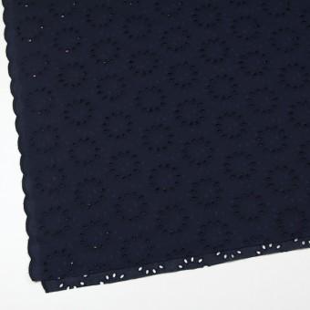 コットン×サークル(ネイビー)×ローン刺繍 サムネイル2