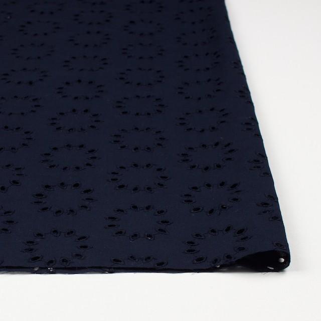 コットン×サークル(ネイビー)×ローン刺繍 イメージ3