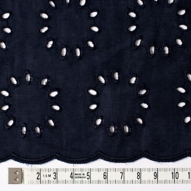 コットン×サークル(ネイビー)×ローン刺繍 イメージ4