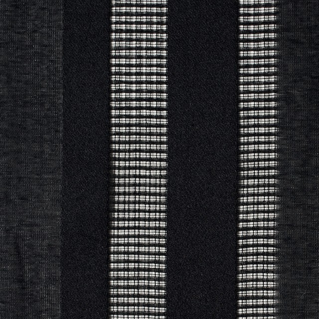 コットン×ストライプ(ブラック)×からみ織 イメージ1