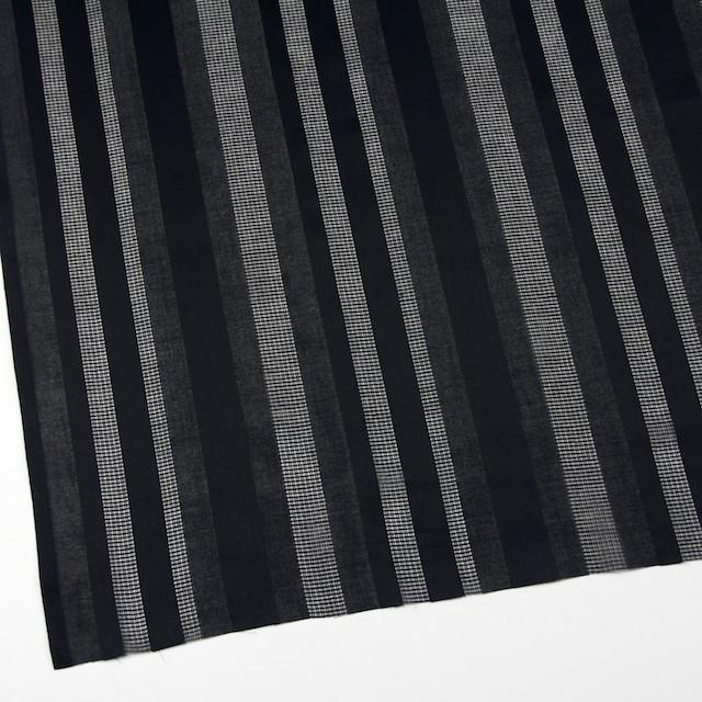 コットン×ストライプ(ブラック)×からみ織 イメージ2