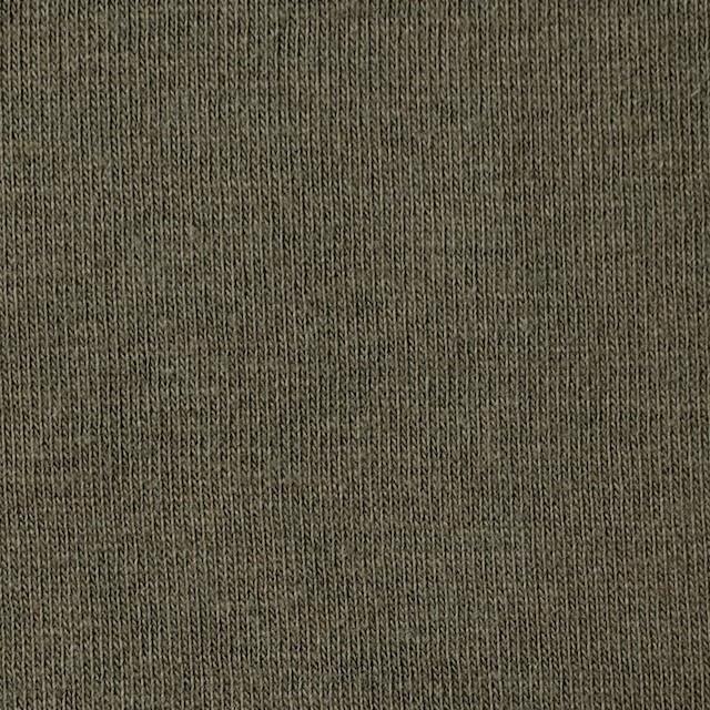 コットン×無地(アッシュカーキ)×天竺ニット イメージ1
