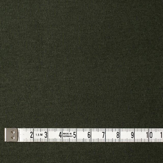 コットン×無地(モスグリーン)×フライスニット イメージ4